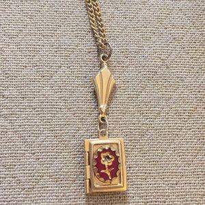 Vintage Small Flower Locket Necklace